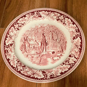 Currier and Ives Home Sweet Home Pink Pattern
